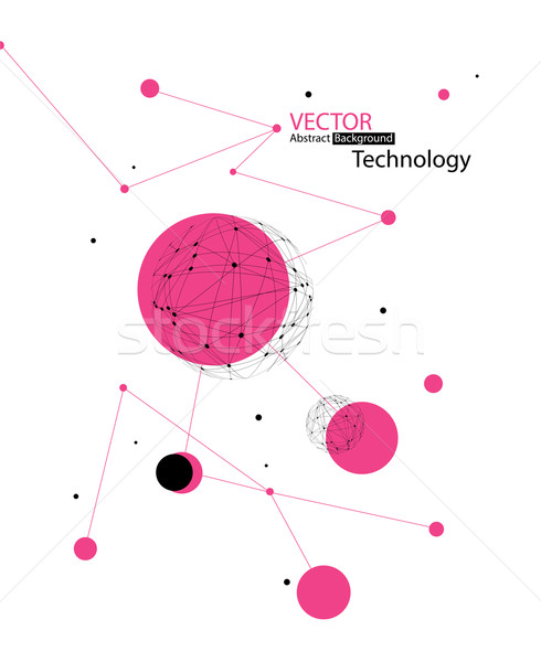 Global communications concept. Vector Stock photo © pashabo