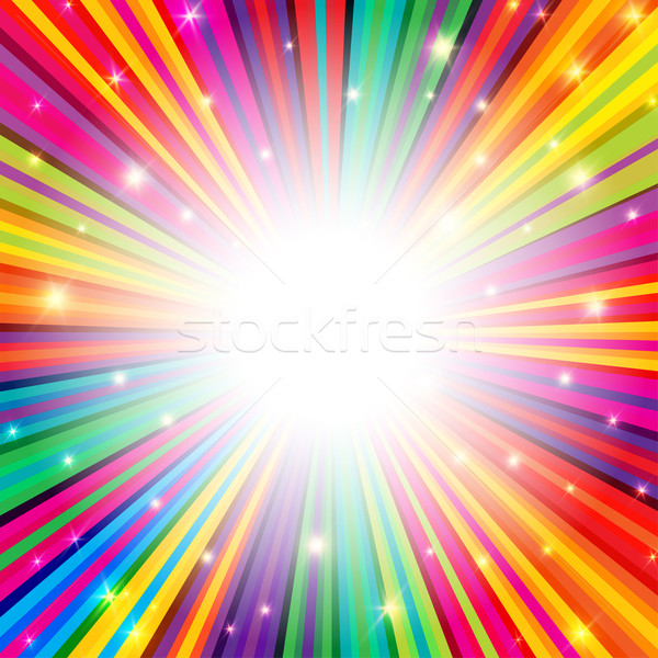 Colorful Rays Psychedelic Background with Space for Your Text in Stock photo © pashabo