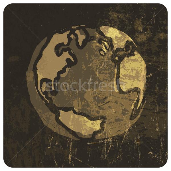 Earth planet grunge illustration. Vector, EPS10 Stock photo © pashabo