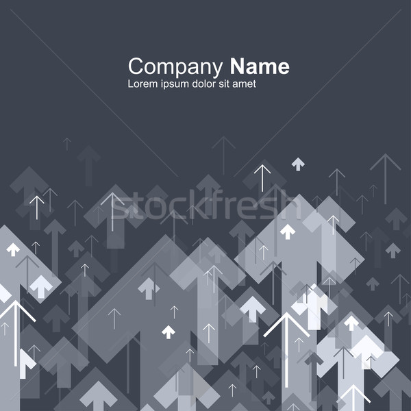 Abstract gray arrows up motion background. Good for financial an Stock photo © pashabo