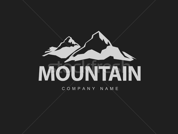 Montanas logo plantilla resumen naturaleza diseno Foto stock © pashabo