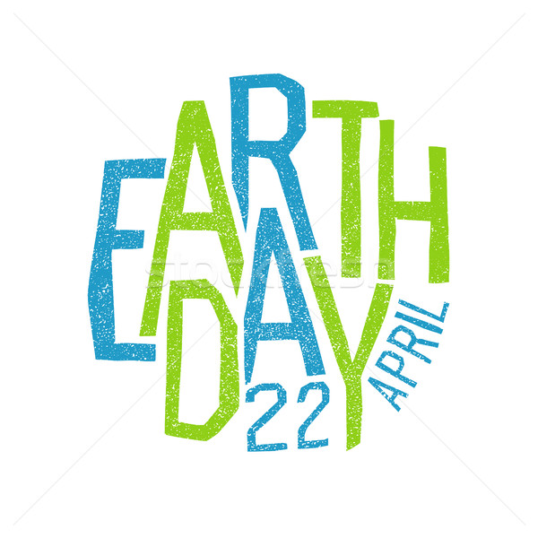 Earth day, 22 April. Holiday logotype design.  Stock photo © pashabo
