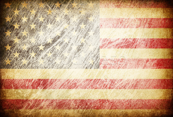Grunge rubbed flag series of backgrounds. USA. Stock photo © pashabo