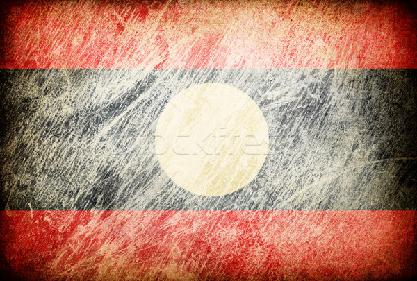 Grunge rubbed flag series of backgrounds. Laos. Stock photo © pashabo