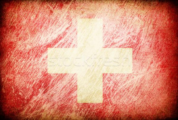 Grunge rubbed flag series of backgrounds. Switzerland. Stock photo © pashabo