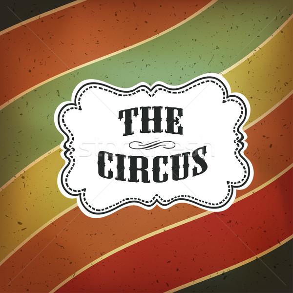 Foto d'archivio: Circo · abstract · poster · colorato · linee · vettore