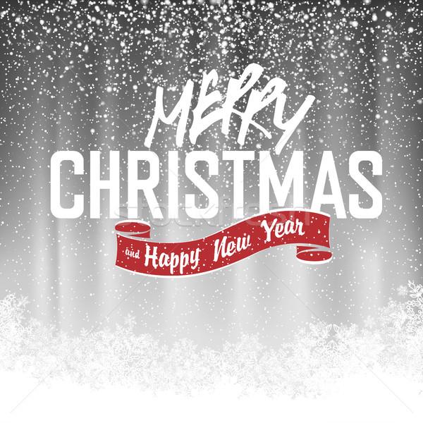 Alegre Navidad gris vector diseno Foto stock © pashabo
