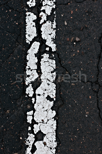 Asphalt road line closeup.  Stock photo © pashabo