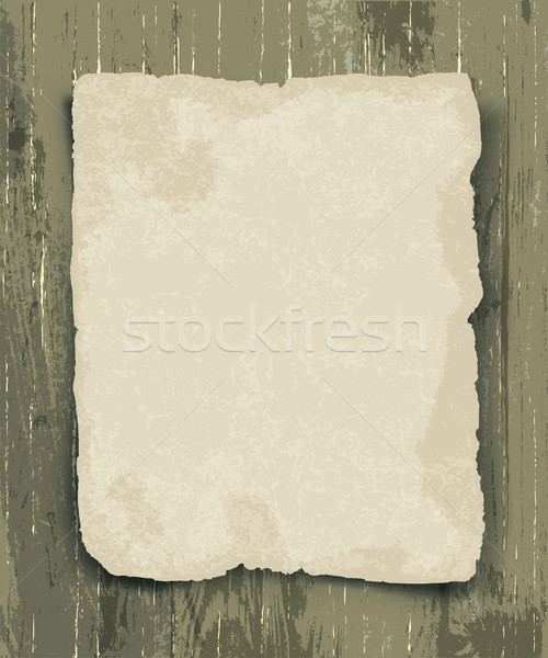Old paper on the wood background Stock photo © pashabo