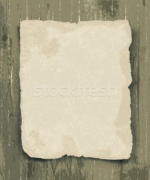 Régi papír fa fal háttér ír poszter Stock fotó © pashabo