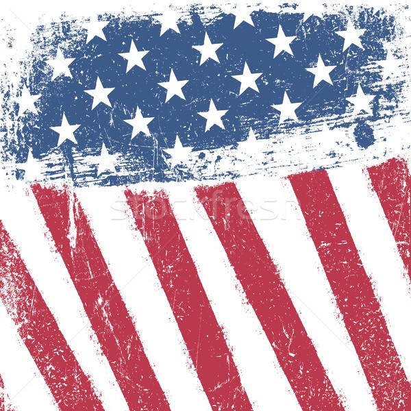 Amerikai hazafias grunge absztrakt terv háttér Stock fotó © pashabo