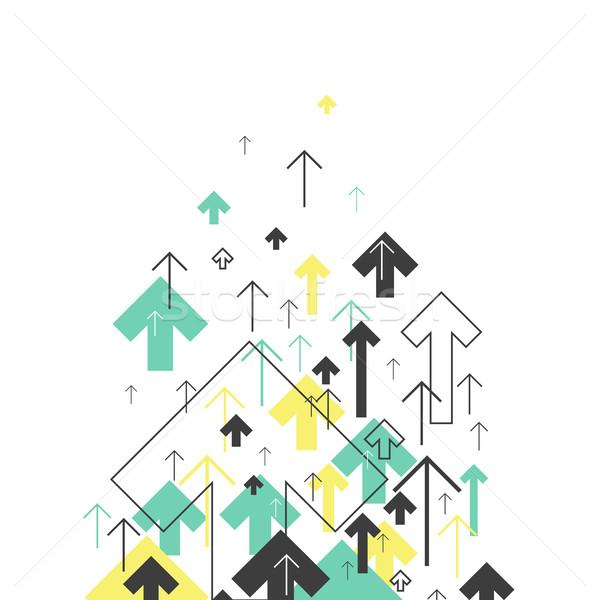Absztrakt siker növekvő nyilak illusztráció mozgás Stock fotó © pashabo