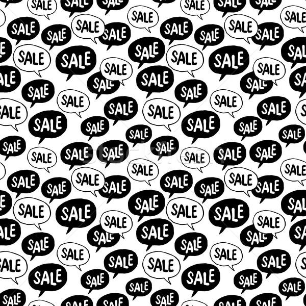 черная пятница речи пузырь продажи слово реклама Сток-фото © pashabo