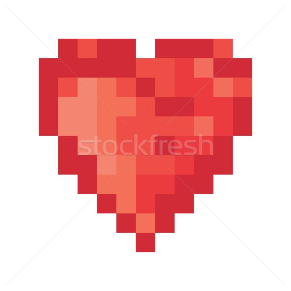 Renk piksel kalp vektör bilgisayar mutlu Stok fotoğraf © pashabo