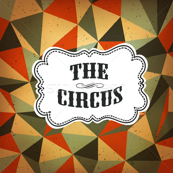 Circus Abstract Poster with Colored Rhombus Stock photo © pashabo