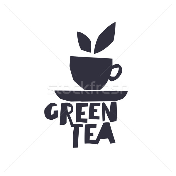 緑茶 カップ 茶 文字 孤立した ロゴタイプ ストックフォト © pashabo