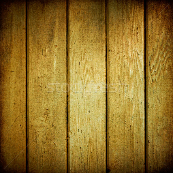 Yellow wood planks texture weathered. Stock photo © pashabo