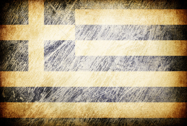 Grunge rubbed flag series of backgrounds. Greece. Stock photo © pashabo