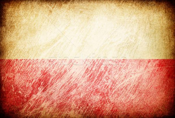 Grunge rubbed flag series of backgrounds. Poland. Stock photo © pashabo