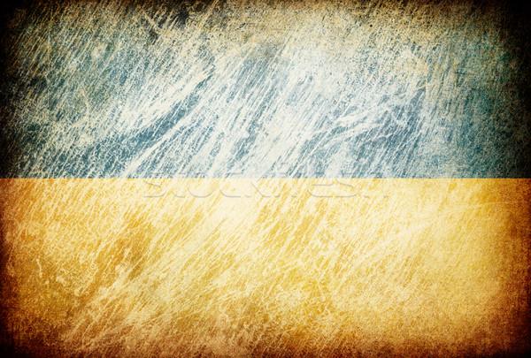 Grunge rubbed flag series of backgrounds. Ukraine. Stock photo © pashabo
