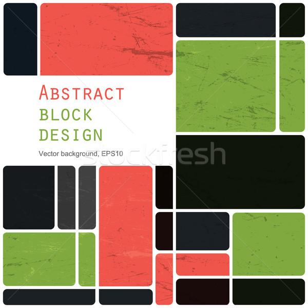 Foto stock: Resumen · retro · bloques · diseno · colorido · vector