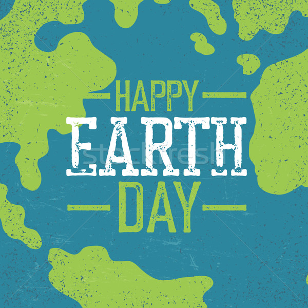 Grunge Earth Day Logo. Stamp letters.  'Earth day'. Earth day ce Stock photo © pashabo