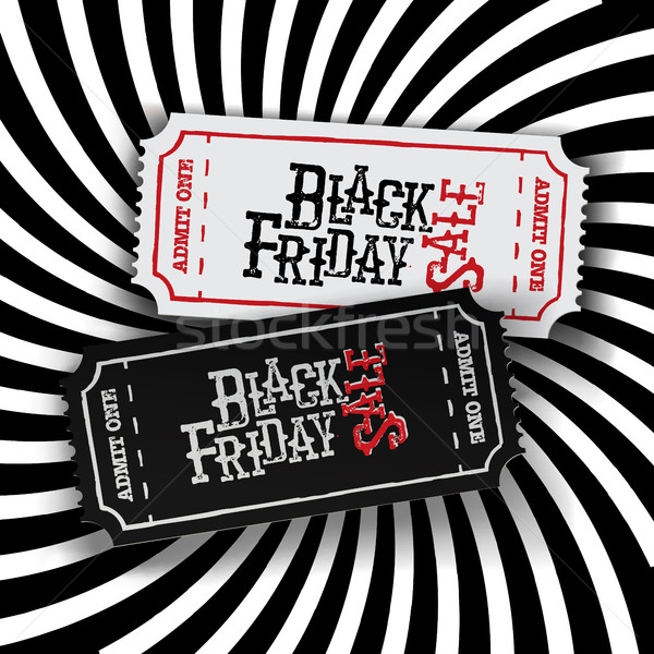 Black Friday Ticket Concept. Retro styled 'Black Friday' typogra Stock photo © pashabo