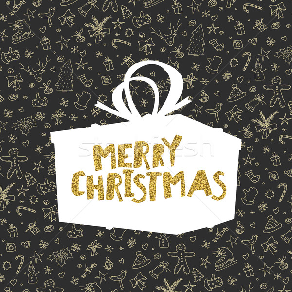 Pattern with Christmas elements. Retro styled Stock photo © pashabo