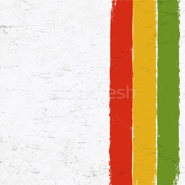 Rasta colors grunge background. Abstract template use for Rastaf Stock photo © pashabo