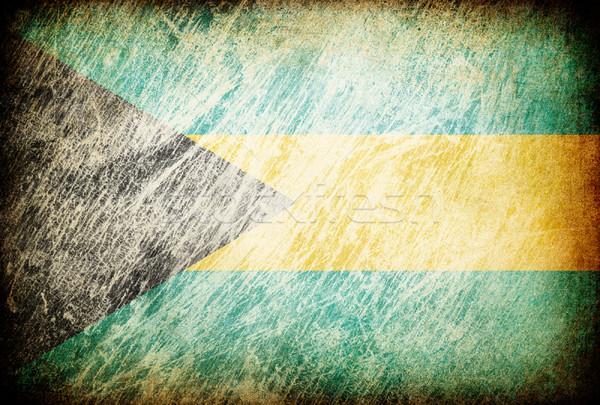 Гранж флаг фоны Багамские острова текстуры цифровой Сток-фото © pashabo