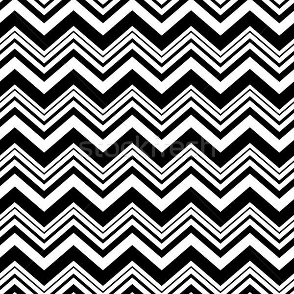 Chevron seamless pattern. Black and white Stock photo © pashabo
