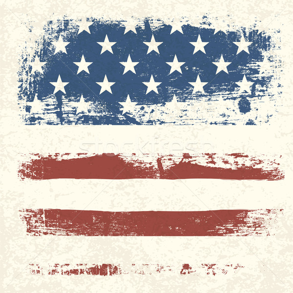 American flag vintage textured background. Vector, EPS10 Stock photo © pashabo