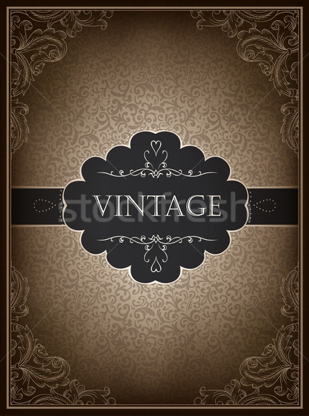 Stock fotó: Klasszikus · üdvözlőlap · design · sablon · vektor · esküvő · kávé