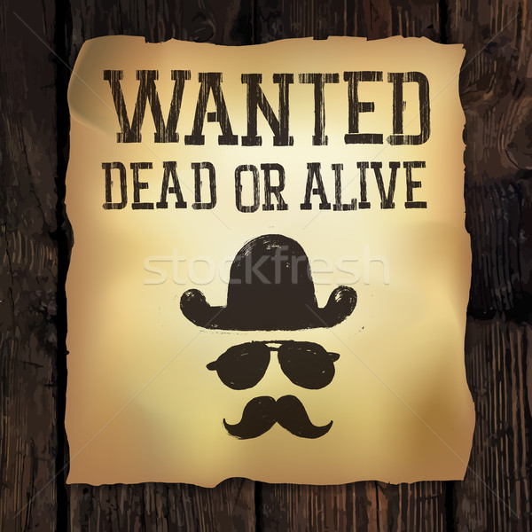 Old 'Wanted...' poster, vector illustration  Stock photo © pashabo