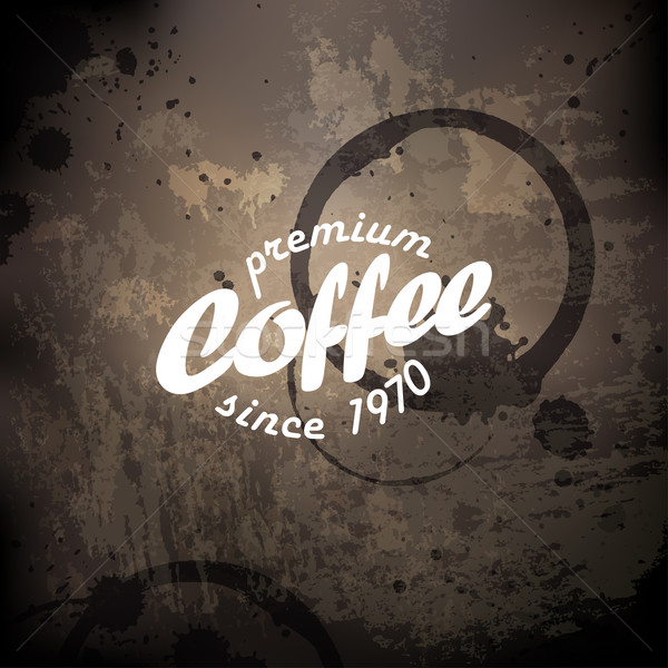Coffee grunge retro background Stock photo © pashabo