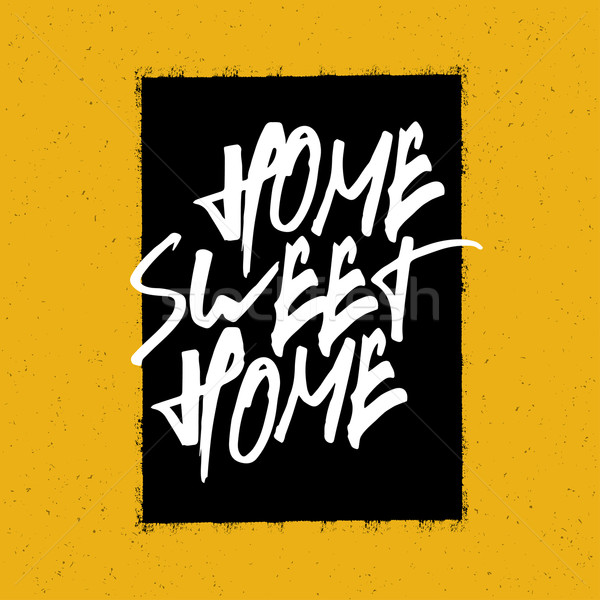 Home sweet home poster huis textuur achtergrond kunst Stockfoto © pashabo