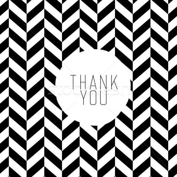 Grazie messaggio bianco nero pattern abstract regalo Foto d'archivio © pashabo