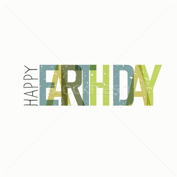 Earth Day Calebration Typography. Minimalistic logo for celebrat Stock photo © pashabo