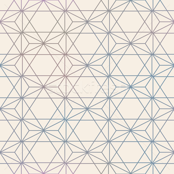 Abstract Seamless Geometric Vector Hexagon Pattern  Mesh