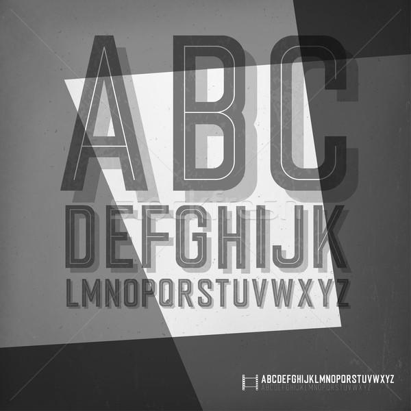 Old film noir styled alphabet. Stock photo © pashabo