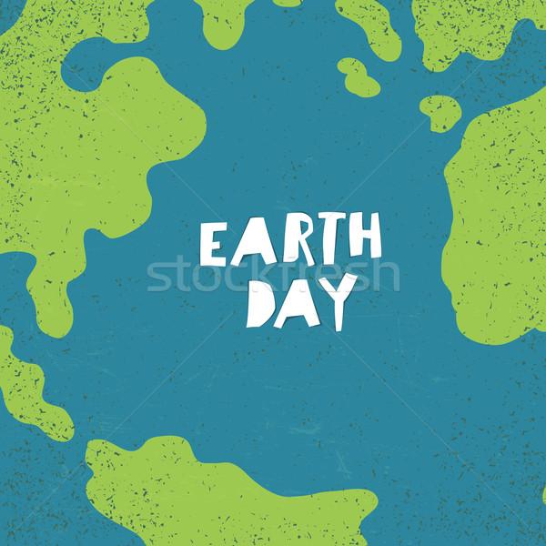 Föld napja kreatív terv poszter égbolt papír Stock fotó © pashabo