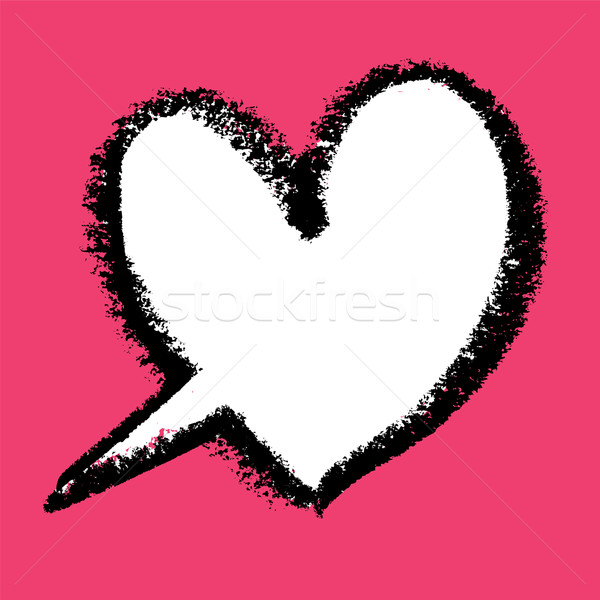 Tekstballon textuur bruiloft abstract hart schilderij Stockfoto © pashabo