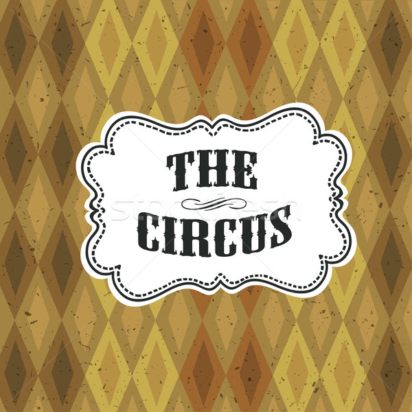 Circus Abstract Poster with Argyle Pattern Stock photo © pashabo