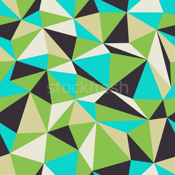 Triangle Seamless Pattern. Retro colors.  Stock photo © pashabo