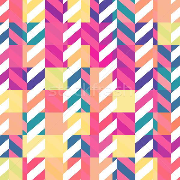 Bezszwowy kolorowy geometryczny wzór tekstury streszczenie tle Zdjęcia stock © pashabo