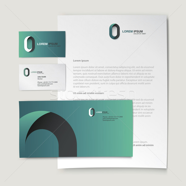 Corporate identity template. Abstract logo on letter envelope, b Stock photo © pashabo