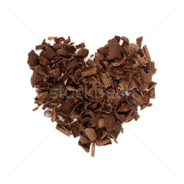 Chocolate amor chips doblado forma corazón Foto stock © pashabo