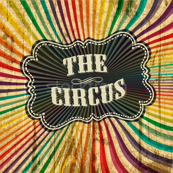 Circus zonnestraal patroon eps10 textuur partij Stockfoto © pashabo