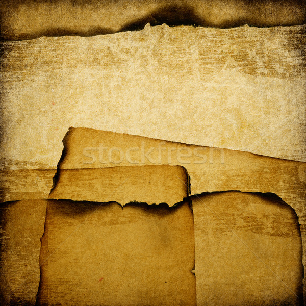 Burned grunge paper background. Stock photo © pashabo