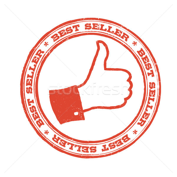 Best seller stamp with thumb up symbol. Vector Stock photo © pashabo